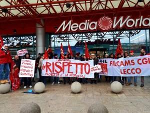 cgil filcams sciopero mediaworld 1