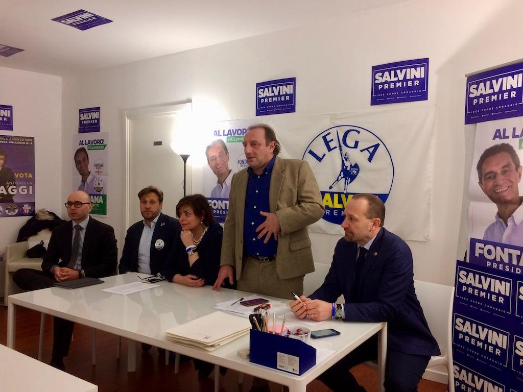 sede elettorale lega nord via fratelli cairoli faggi arrigoni centemeno parolari ferrari politiche 2018