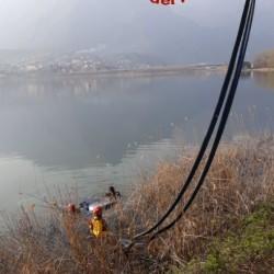 auto lago annone galbiate pompieri vigili fuoco (3)