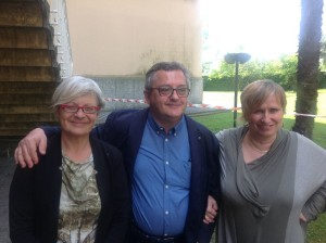 da sinistra Anna Maria Furlan, Ugo Duci, Rita Pavan