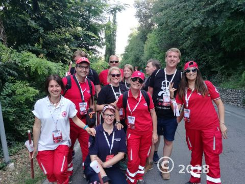 Solferino2018 Balisio e volontari tedeschi