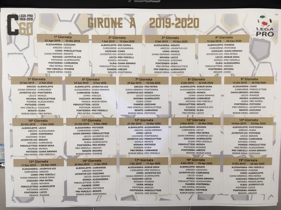 Calendario Juventus Campionato.Serie C Ecco Il Calendario Il Lecco Parte Da Arezzo Derby