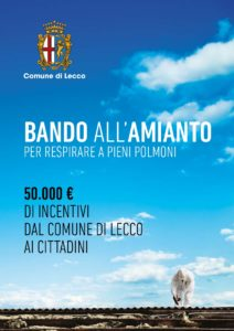 """DAL COMUNE DI LECCO """"BANDO ALL'AMIANTO"""": CONTRIBUTI PER LA BONIFICA"""
